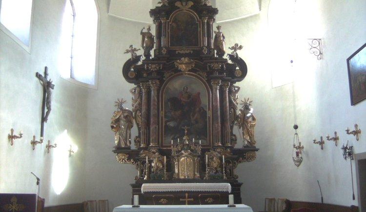 Altar view catholic church Bad Goisern