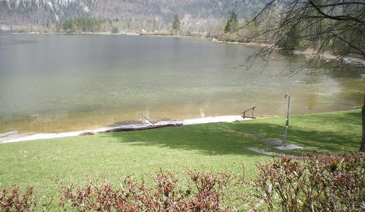 view of the wooded Lake Hallstatt. (© Ferienregion Dachstein Salzkammergut)