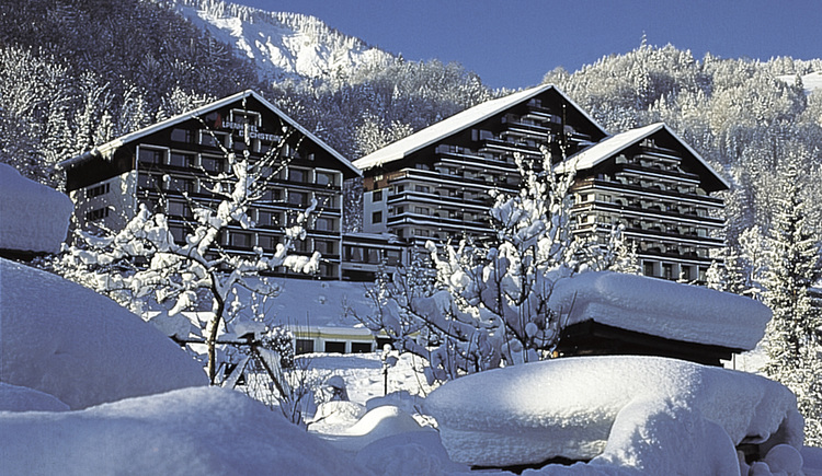 The Alpenhotel Dachstein is located on a hill with a wonderful view over Bad Goisern