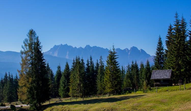 Herrliches Bergpanorama auf der Iglmoosalm in Gosau. (© © Dachstein Salzkammergut)