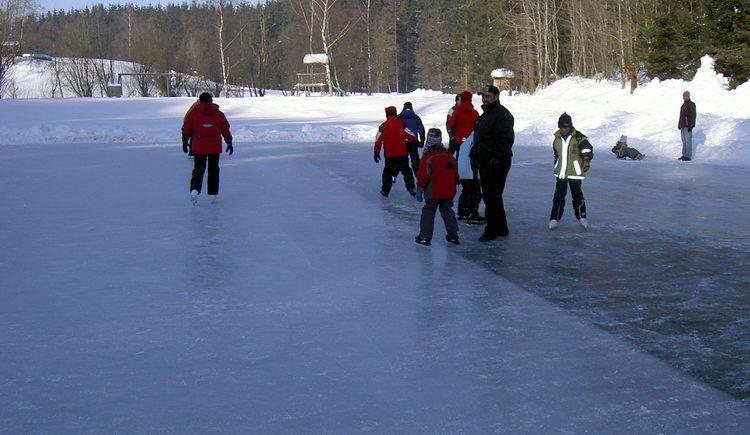Eislaufen am Badeteich in Rainbach (© Gemeindeamt Rainbach)