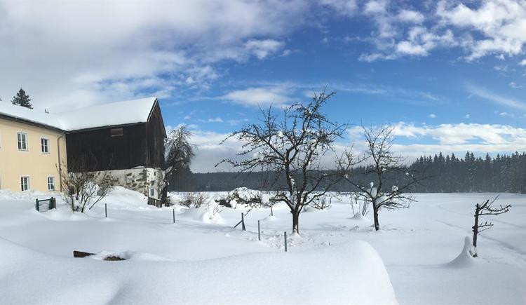 Hausansicht im Winter 2 (© Privat)