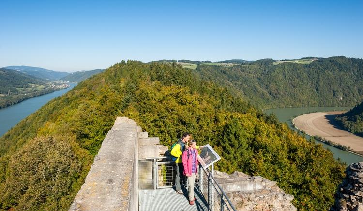 Ausblick von der Burgruine Haichenbach (© WGD Donau Oberösterreich Tourismus GmbH_Hochhauser)