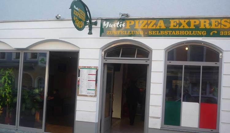 Blick auf Mustis Pizzaexpress