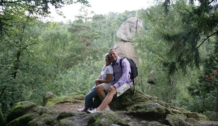 Kerzenstein-das Wahrzeichen des Naturschutzgebietes Pesenbachtal