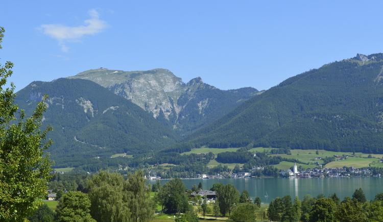 Aussicht auf St. Wolfgang und Schafberg