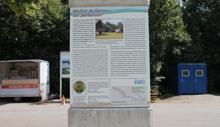 Römer-Rastplatz am Donauradweg in Mitterkirchen
