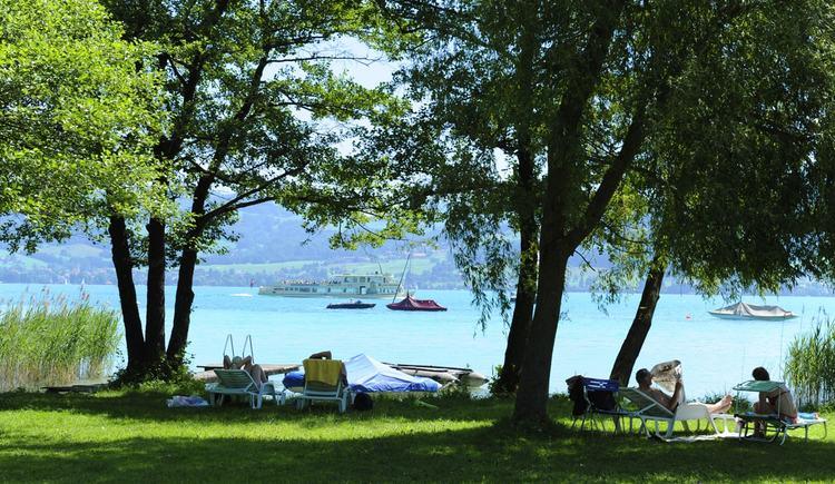 private beach (© Hotel Haberl)