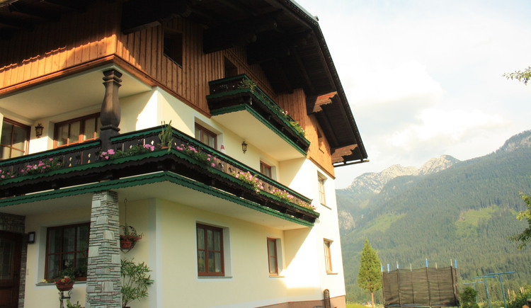 Our house is located on a small hill with a wonderful view over the valley of Gosau.