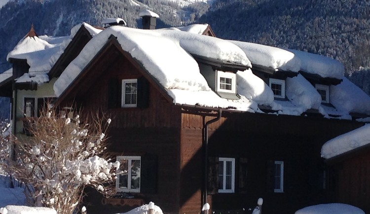 View of our house in winter.