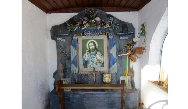 Blick auf den Altar, Heiligenbild