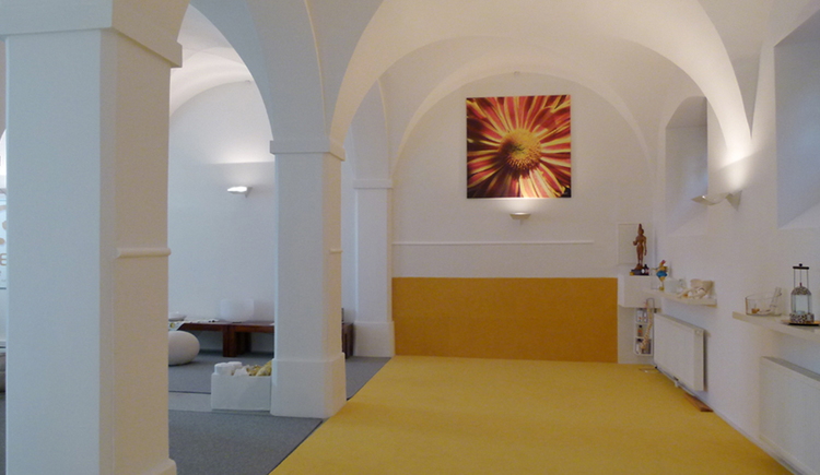 View of the meditation room of the ZENtrum Mondsee