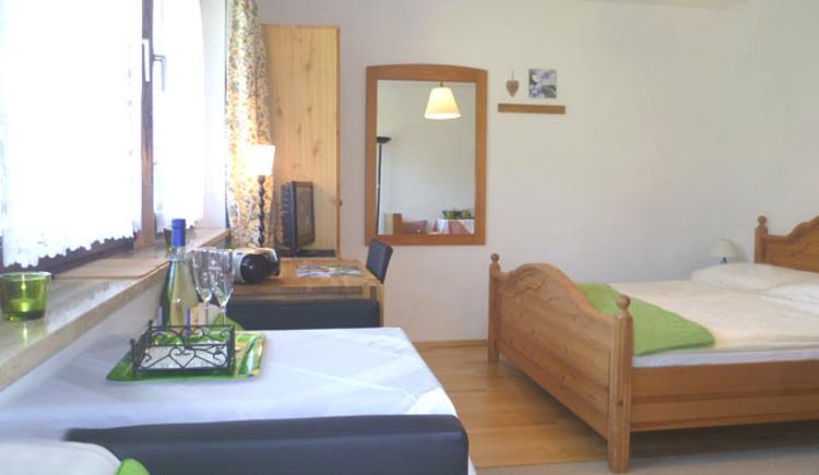 Doppelzimmer mit Kochnische und Balkon