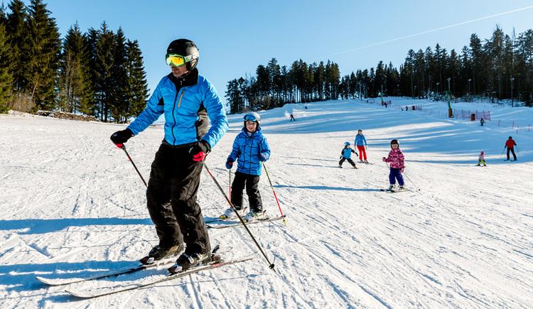 Skifahren im Mühlviertel (© Tourismusverband Mühlviertler Alm/Dieter Hawlan)