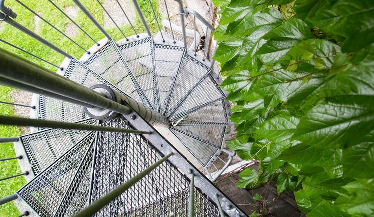 Via a spiral staircase you reach the apartment
