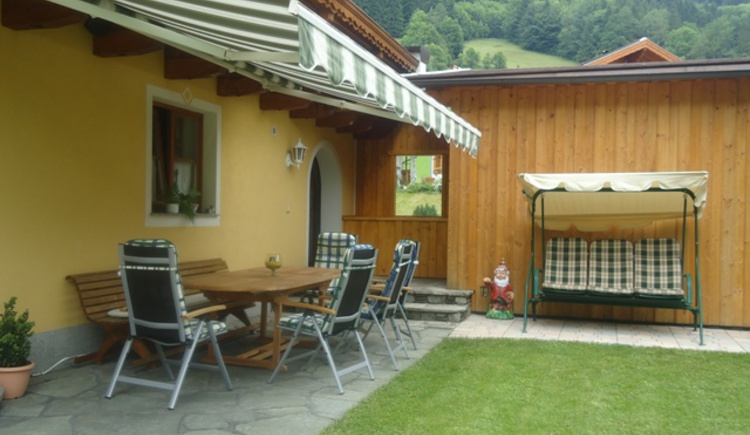 Cosy terrace at Pension Wald (© Pension Wald)