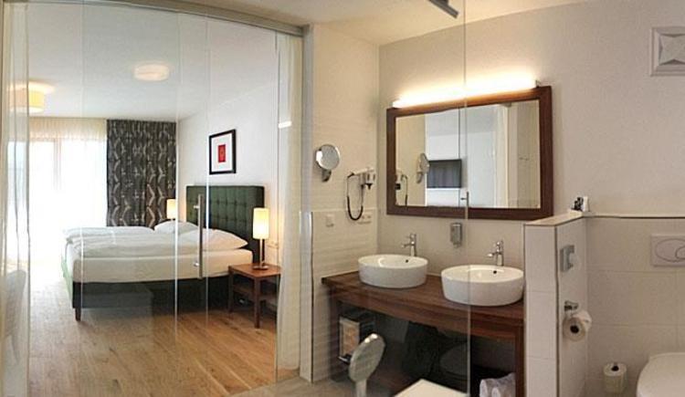 Hotelzimmer Traunsee Salzkammergut (© Hotel Hochsteg Gütl)
