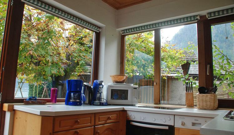 Die Küche der Ferienwohnung Kraft tanken in Hallstatt