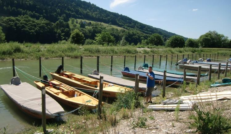 Zillenverleih am Naturwunder Donauschlinge Schlögen (© Witti)