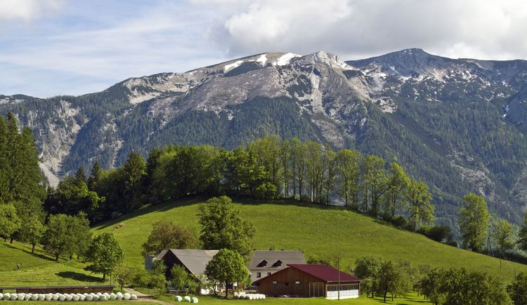 Christahof gegen Sengsengebirge (© TVB Pyhrn-Priel/Sulzbacher)