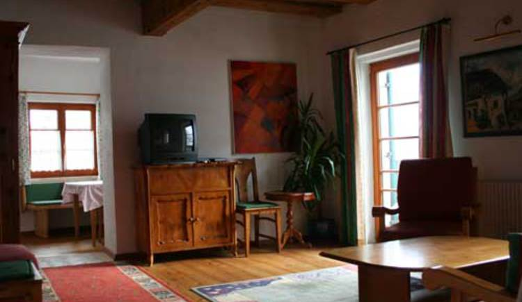 The living room of the House Cian in the City Center of Hallstatt