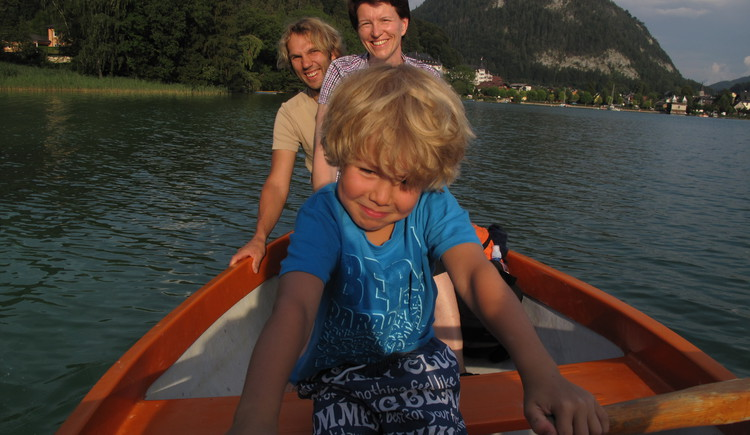 Ruderboot am Fuschlsee (© Haus Bergblick)
