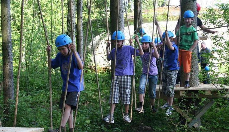 Fun & adventure in the woodland climbing park