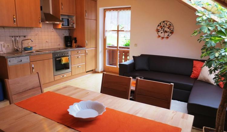 Ferienwohnung Bergblick Wohnküche