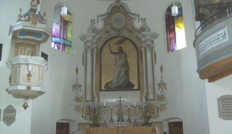 Altar of the Protestant church in Bad Goisern