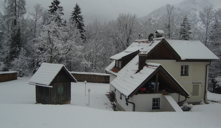 Winter idyll in the cottage Waldbankerl