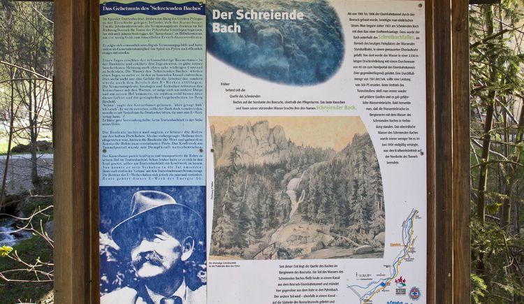 14_schautafel-schreiender-bach-sulzbacher_gew-sserlehrpfad (© TVB Pyhrn-Priel/Sulzbacher)