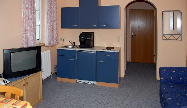 Wohnzimmer im Appartement (© Hotel-Restaurant Bergkristall)