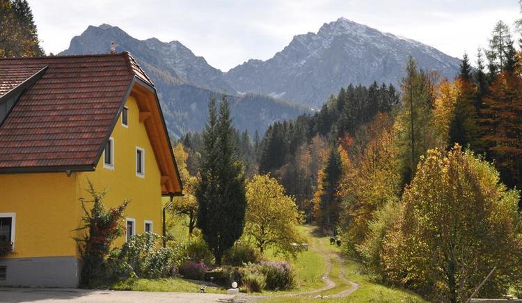Herbststimmung beim Hintergrabenbauer (© A. Gösweiner)