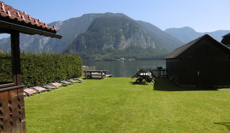 Die Ferienwohnung Tapler verfügt über einen eigenen Seezugang zum Hallstättersee.