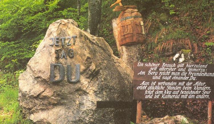 Der Du Stein auf ca. 1.000m höhe (© Hochberghaus)
