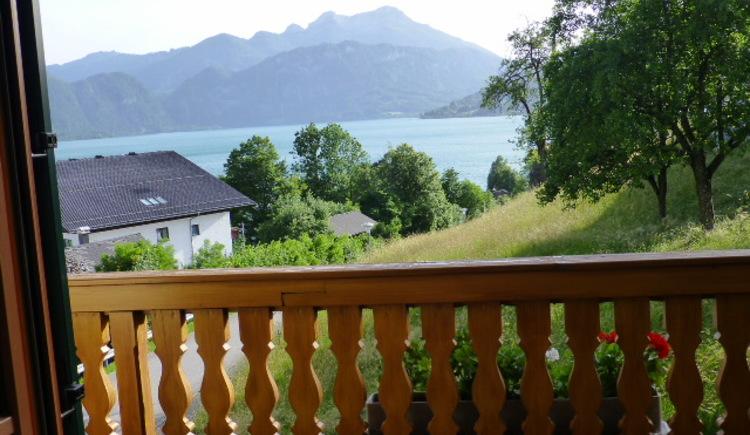 Dreibettzimmer mit Balkon Haus Gertraud Reichl Steinbach am Attersee
