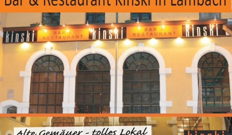 Bar & Restaurant Kinski, Außenansicht