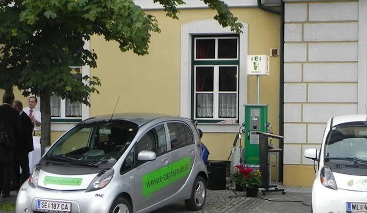 Stromtankstelle Klaus (© Energieautarke Region Pyhrn-Priel)