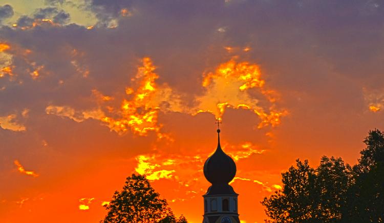 Treubach, roter Himmel, Innviertel. (© Treubach / S.Pommer)
