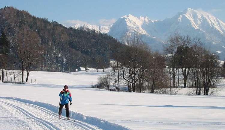 Langlaufen in der Pyhrn-Priel Region (© Pyhrn-Priel Tourismus GmbH/Brandstätter)