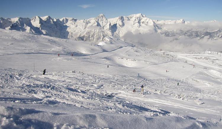 von uns direkten Zugang ins gesamte Skigebiet (© Berghof Sturmgut)