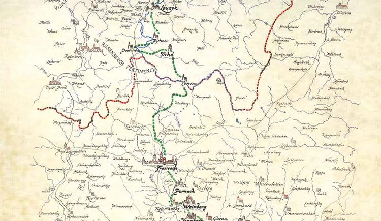 Burgen- und Schlösserweg Karte (© Burgen- und Schlösserweg)