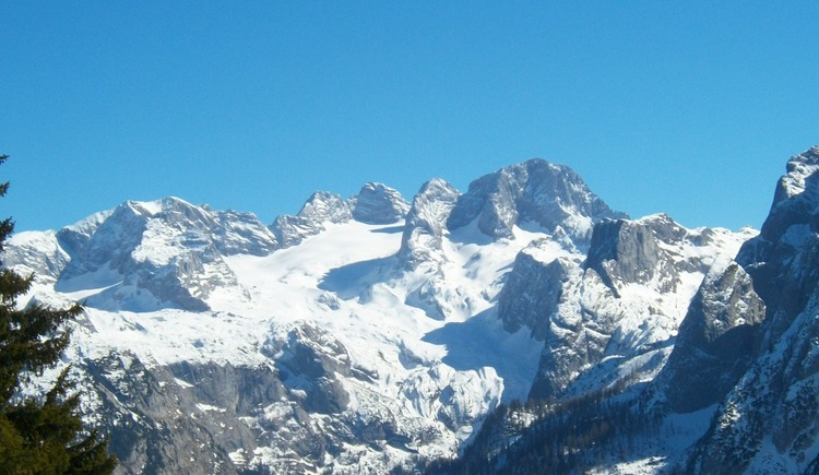 The mighty Dachstein overlooks the valley of Gosau