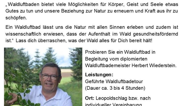 Wiederstein Herbert_Gruppenangebot. (© Herbert Wiederstein)