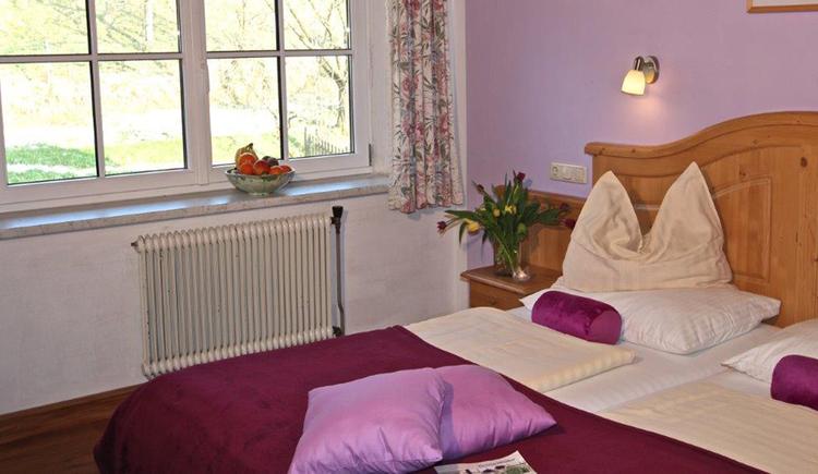 bedroom with double bed, big window