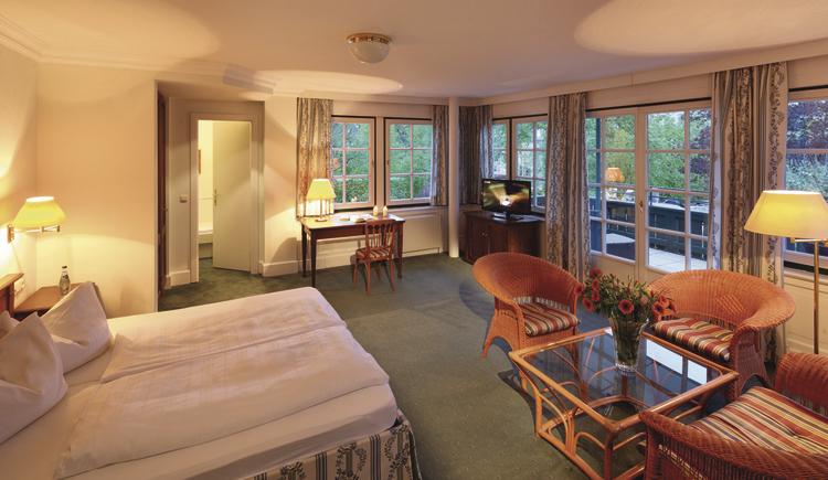 Doppelzimmer. (© Seehotel Brandauers Villen)