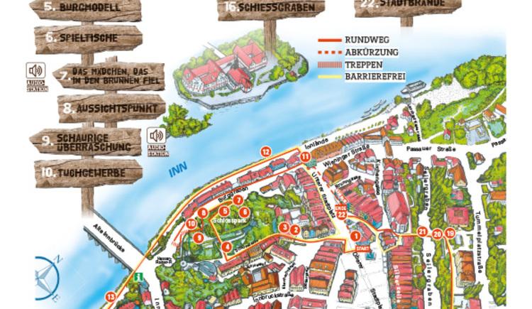 Plan Via Scardinga (© Schärding Tourismus)