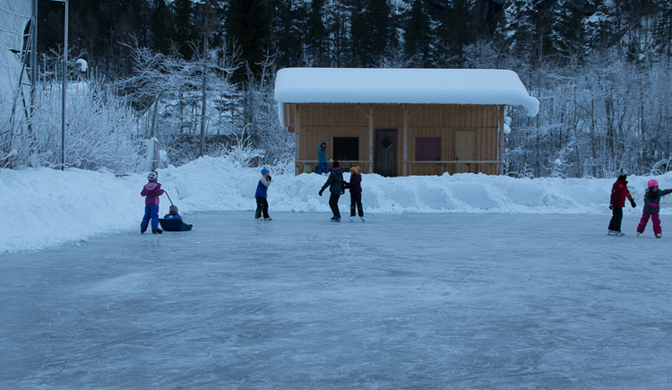 The ice Skating rink of the Gasthof Pension Hirlatz