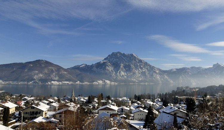 Altmünster am Traunsee im Salzkammergut im Winter. (© MTV Ferienregion Traunsee - Tourismusbüro Altmünster)
