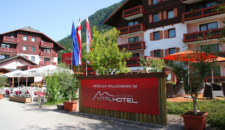 The entrance of the Vitalhotel and also to the Apartment Kogelblick